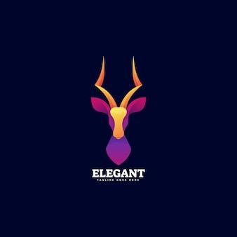 Modèle de logo élégant dégradé de style coloré