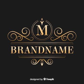 Modèle de logo élégant doré