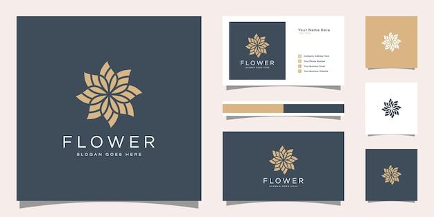 Modèle de logo élégant minimaliste et conception de carte de visite.