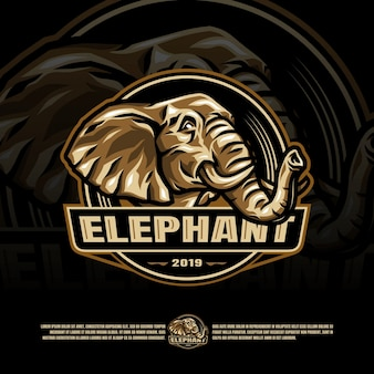 Modèle de logo éléphant esports