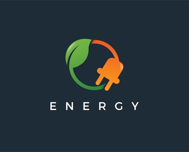 Modèle de logo d'énergie verte