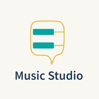 Modèle de logo d'entreprise audiovisuel, vecteur de conception de marque, texte de studio de musique