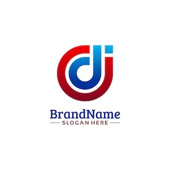 Modèle de logo d'entreprise cdi