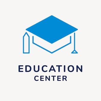 Modèle de logo d'entreprise d'éducation, vecteur de conception de marque, texte de centre d'éducation