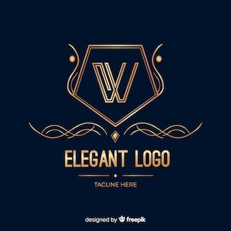 Modèle de logo d'entreprise élégant doré