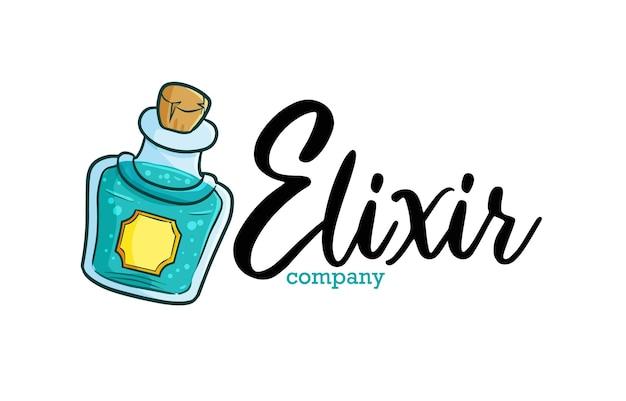 Modèle De Logo D'entreprise Elixir Vecteur Premium