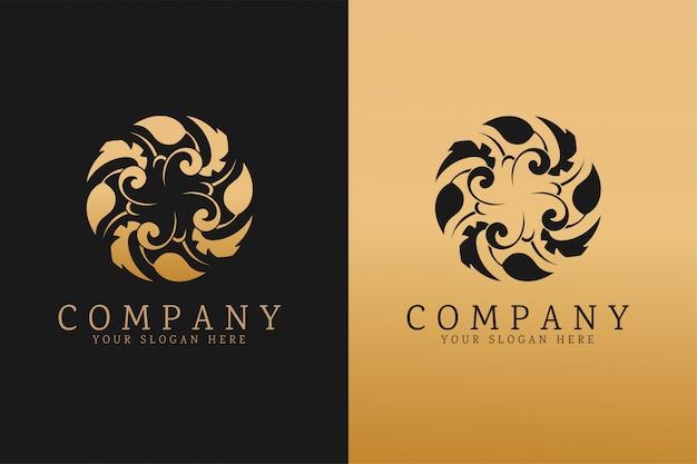 Modèle de logo d'entreprise de luxe