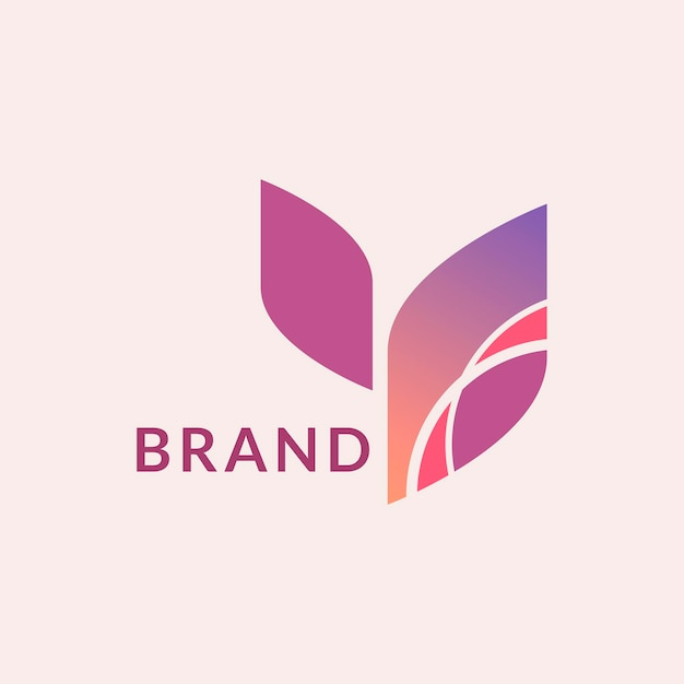Modèle de logo d'entreprise vecteur de conception de marque géométrique