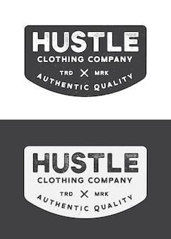 Modèle de logo d'entreprise de vêtements hustle