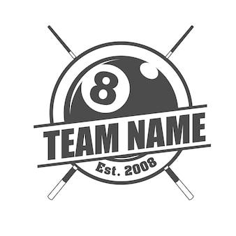 Modèle de logo de l'équipe de billard