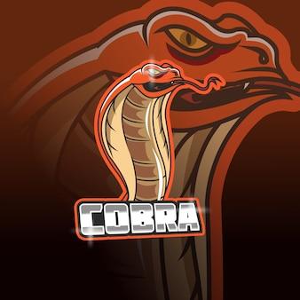 Modèle de logo d'équipe cobra e-sports