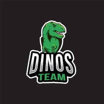 Modèle de logo d'équipe dinos
