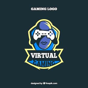Modèle de logo de l'équipe e-sports avec joyslick