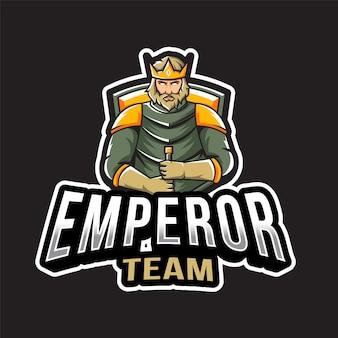 Modèle de logo d'équipe empereur