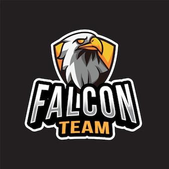Modèle de logo d'équipe falcon