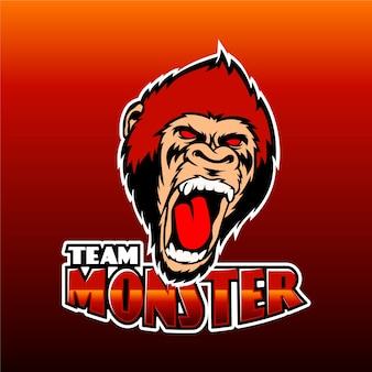 Modèle de logo d'équipe mascotte
