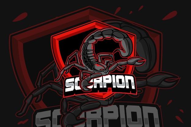 Modèle de logo d'équipe scorpion e-sports
