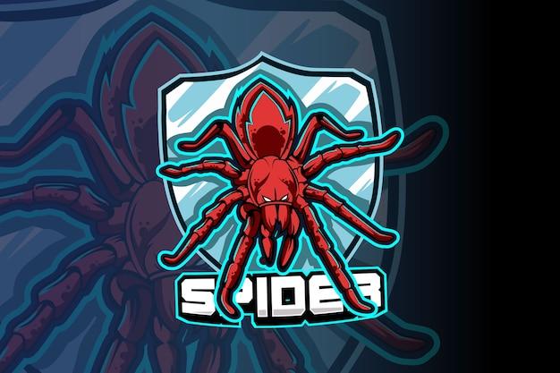 Modèle de logo d'équipe spider e-sports