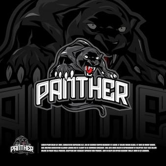 Modèle de logo équipe sport panthère