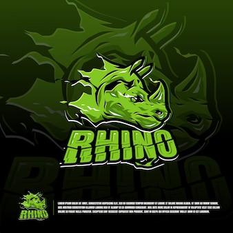 Modèle de logo d'équipe de sport rhino