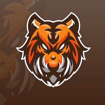 Modèle de logo d'équipe tiger e-sports