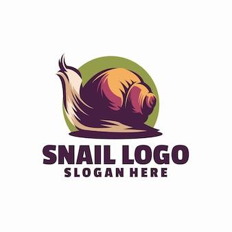Modèle de logo d'escargot