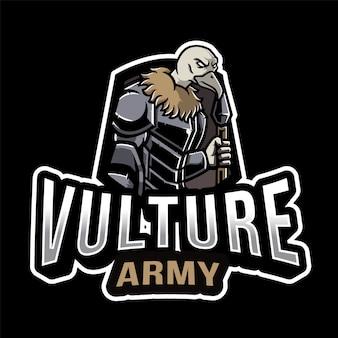 Modèle de logo esport de l'armée vautour