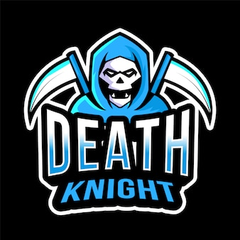 Modèle de logo esport death knight
