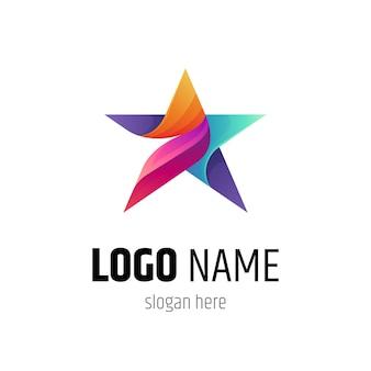 Modèle de logo étoile colorée