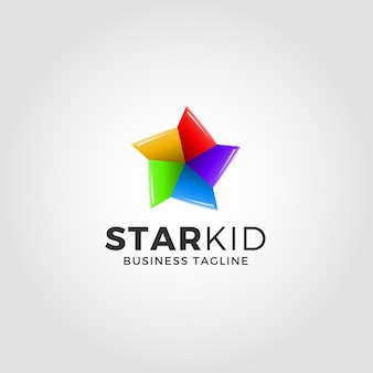 Modèle de logo d'étoile de litle