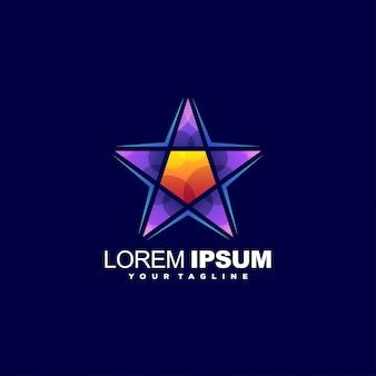 Modèle de logo étoile de luxe