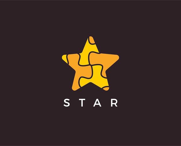 Modèle de logo étoile minimal