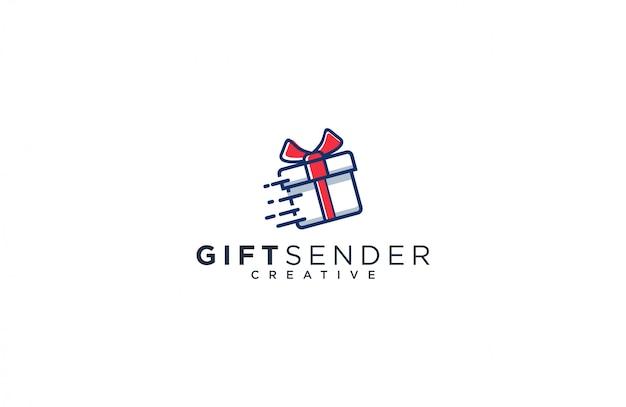 Modèle de logo expéditeur cadeau