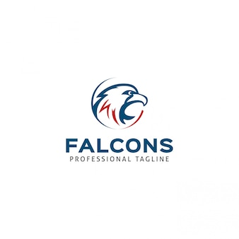 Modèle de logo falcons