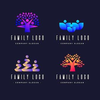 Modèle avec logo de famille abstrait