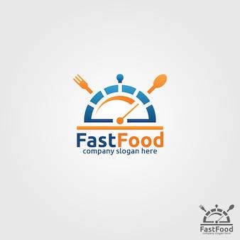 Modèle de logo fast food