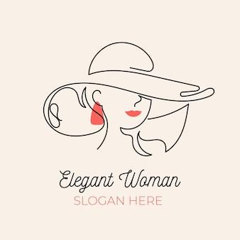Modèle de logo femme dessiné à la main