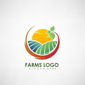 Modèle de logo de ferme concept