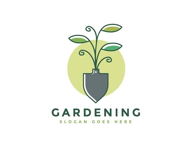 Modèle de logo de ferme et de jardinage