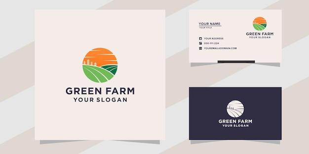 Modèle de logo de ferme verte