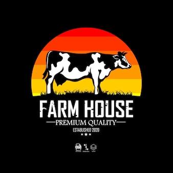 Modèle de logo de ferme