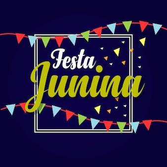 Modèle de logo de festa junina
