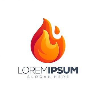 Modèle de logo de feu