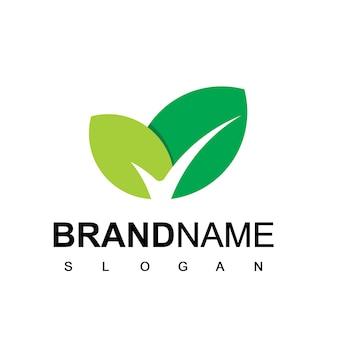 Modèle de logo de feuille