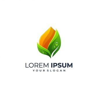 Modèle de logo feuille