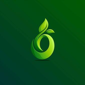 Modèle de logo de feuilles