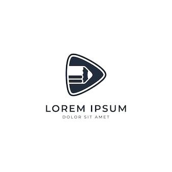Modèle de logo de film de crayon