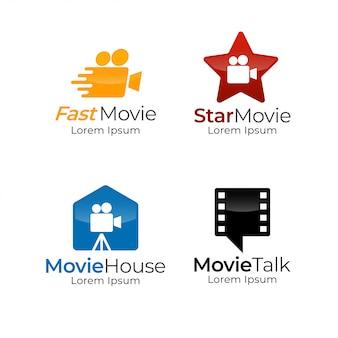 Modèle de logo de film