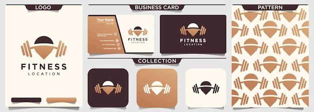 Modèle de logo de fitness carte gym