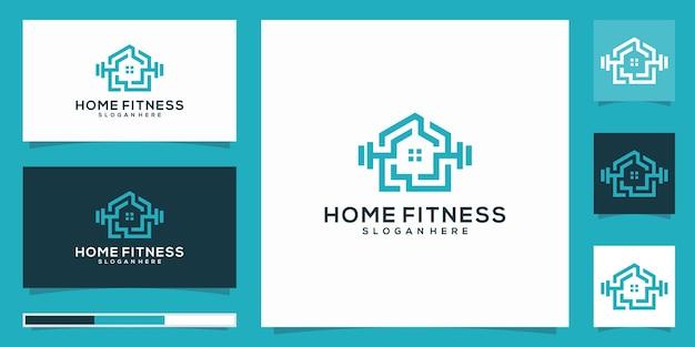 Modèle de logo de fitness à domicile